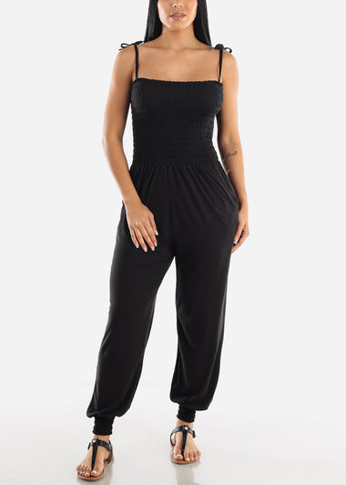 Sleeveless Black Jumpsuit