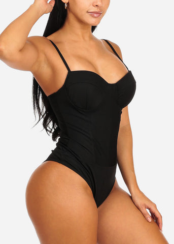 Image of Sexy Black Padded Bust Bodysuit
