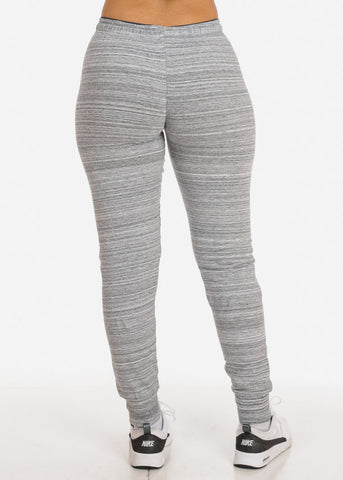 Image of Low Rise Stripe Grey Jogger Pants