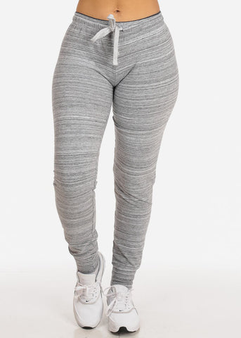 Low Rise Stripe Grey Jogger Pants