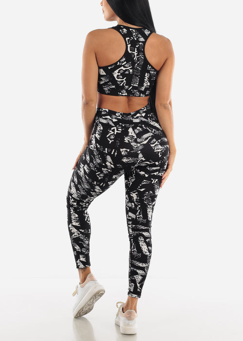 Seamless Printed Sports Wears Set