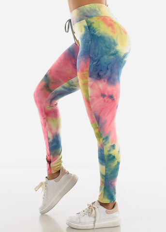 Image of Multi Tie Dye Leggings