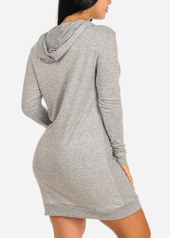 Image of Grey Sweater Midi Dress