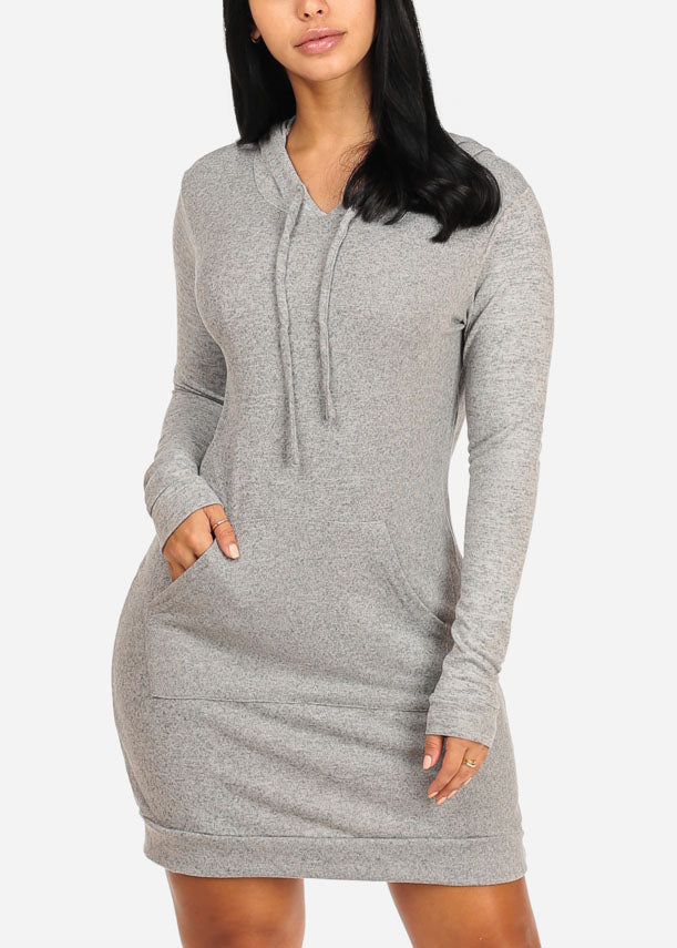Grey Sweater Midi Dress