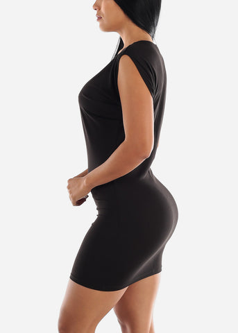 Image of Black Sleeveless Mini Dress
