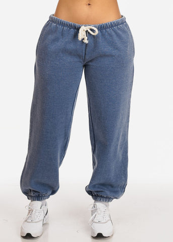 Image of Blue Rise Jogger Pants
