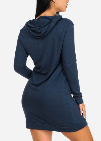 Navy Sweater Midi Dress