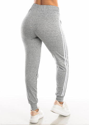 Drawstring Heather Grey Jogger Pants