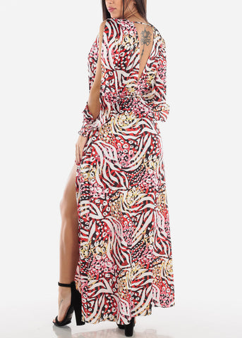 Image of Split Sleeve Maxi Dress