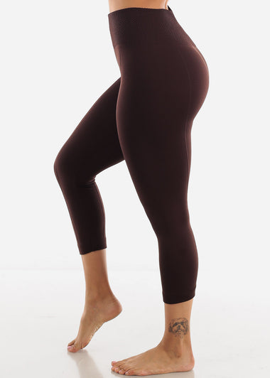 Brown High Waist Leggings