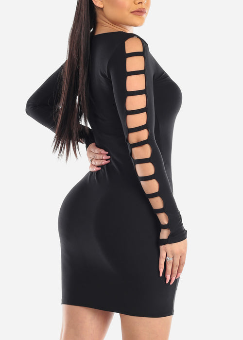 Sexy Cut Out Black Dress