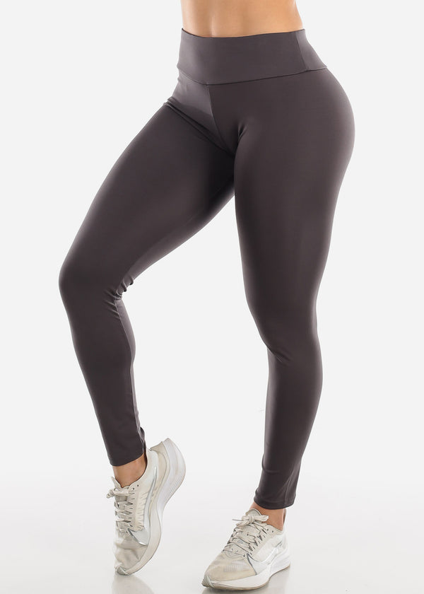 Activewear Push Up Dark Grey Leggings