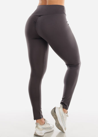 Image of Activewear Push Up Dark Grey Leggings