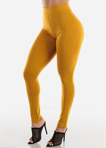 Butt Lifting Mustard Skinny Pants