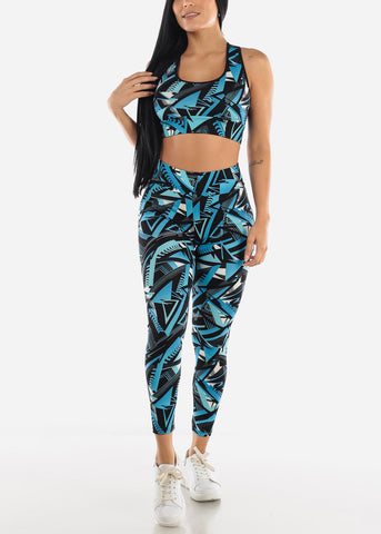 Image of Matching Sports Bra and Leggings Set