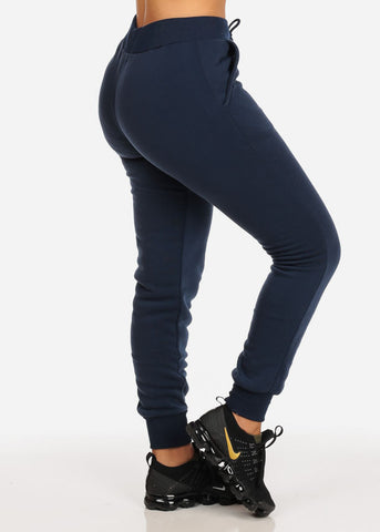 High Rise Navy Jogger Pants