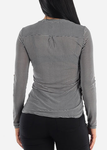 Image of Black and White Blouse