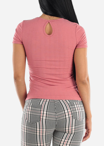 Image of Back Keyhole Mauve Top