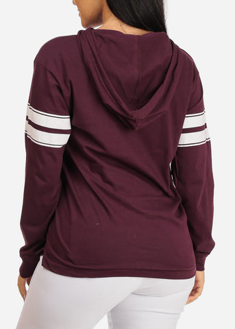 Image of Basic Maroon Sweatshirt W Hood
