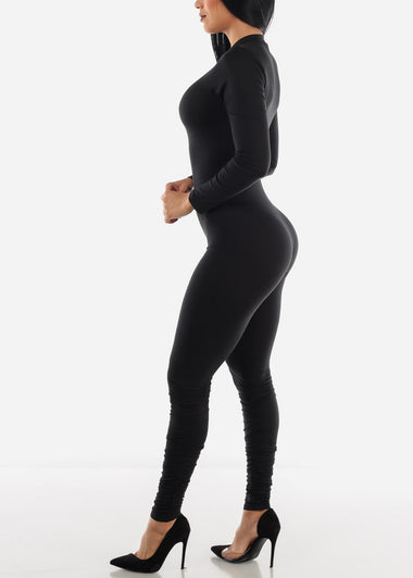Long Sleeve Black Jumpsuit