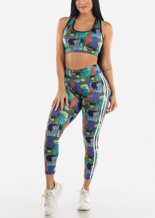 Abstract Print Sportswear Set