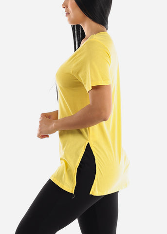 Side Slits Yellow Top
