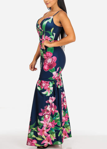 Image of Sexy Stylish Floral Mermaid Maxi Dress