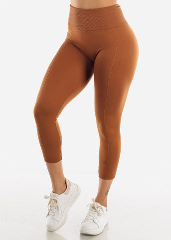 Image of Khaki High Waist Leggings