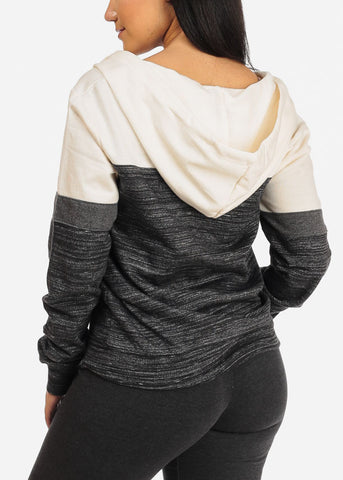 Image of Cute Charcoal 2 Tone Sweater