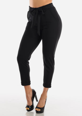 Image of High Waisted Dressy Black Pants
