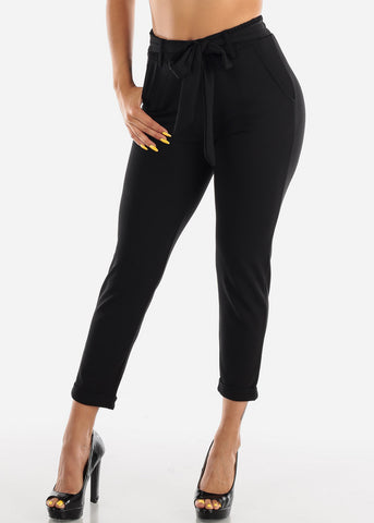 High Waisted Dressy Black Pants