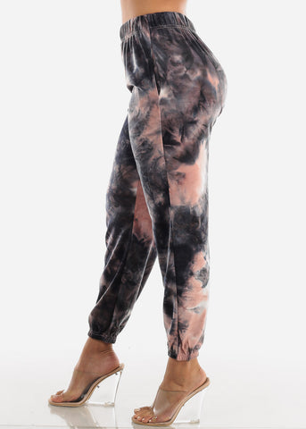 Image of Pink Tie Dye Jogger Pants