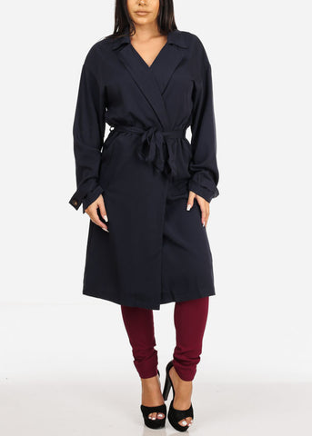 Navy Trench Coat Jacket