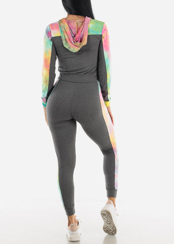 Image of Multicolor Seamless Jogger Set