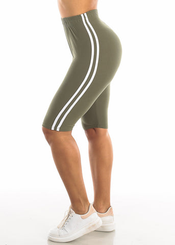 Image of Activewear Olive Bermuda Shorts