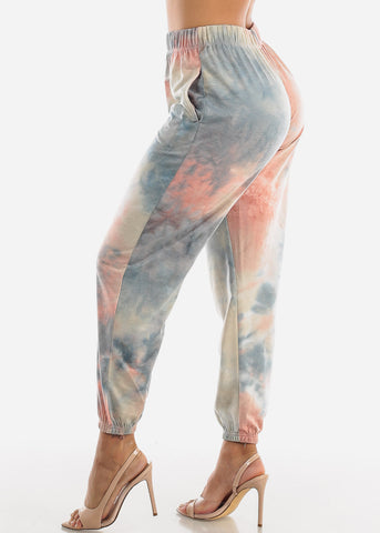 Image of Light Blue Tie Dye Jogger Pants