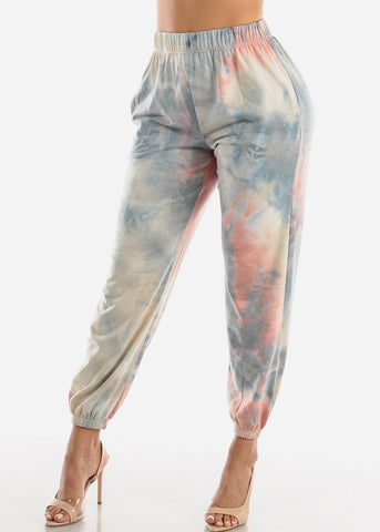 Light Blue Tie Dye Jogger Pants