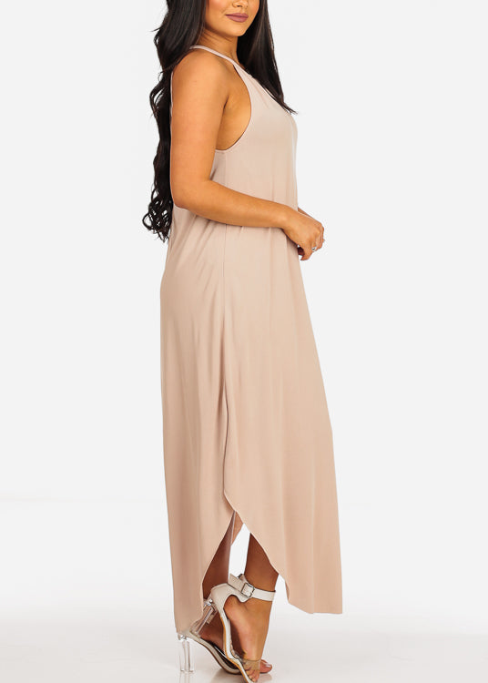 Stylish Beige Maxi Dress