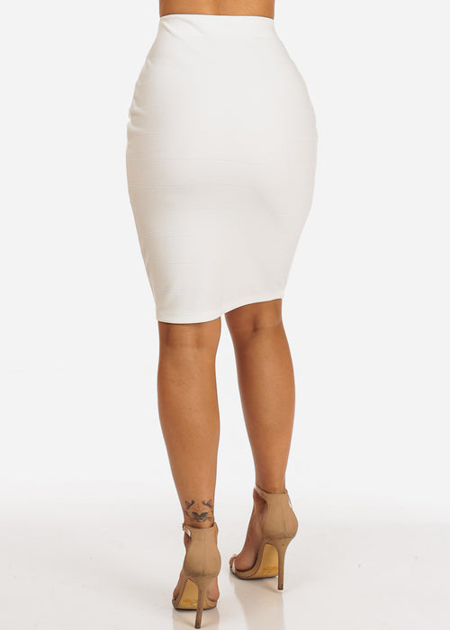 Sexy White High Waisted Skirt