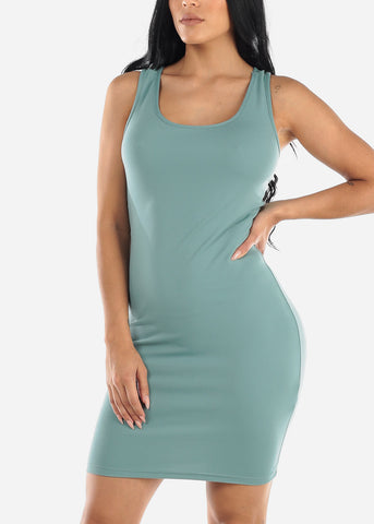 Image of Sage Bodycon Racerback Dress
