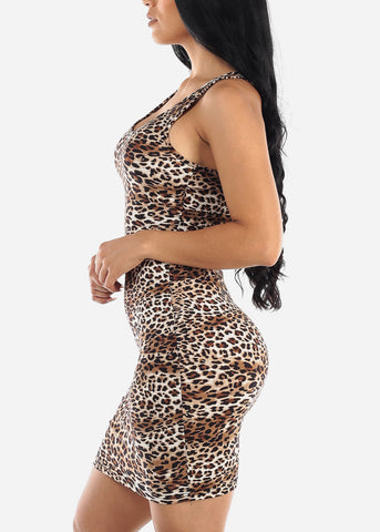 Image of Animal Print Bodycon Dress