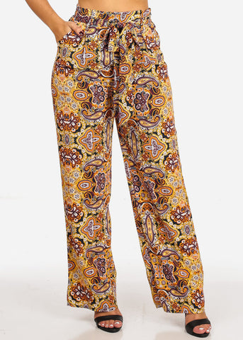 Image of Floral High Waist Pants
