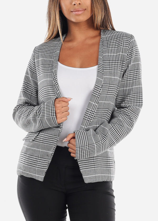 Stylish White Printed Blazer