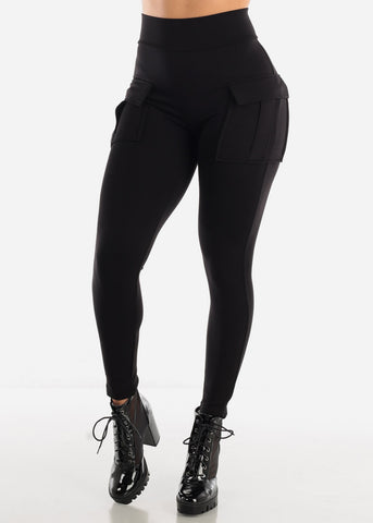 Black High Waisted Cargo Pants
