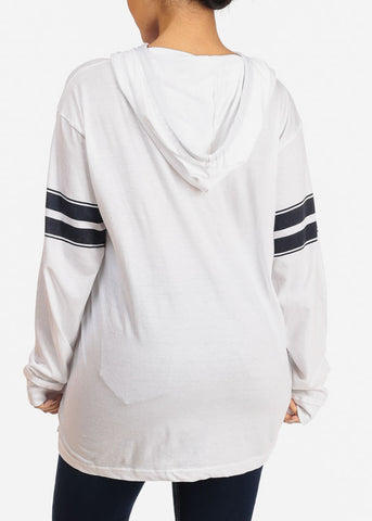 Basic White Sweatshirt W Hood