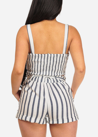 Image of White Stripe Crop Top