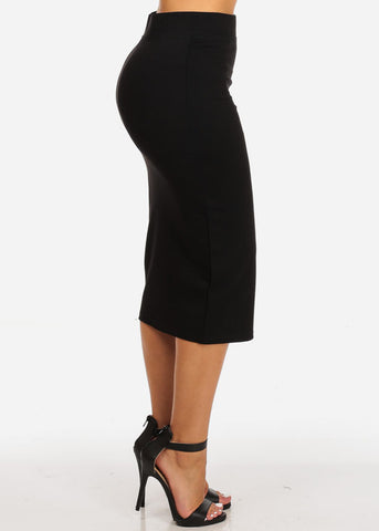 Image of High Waisted Evening Black Skirt