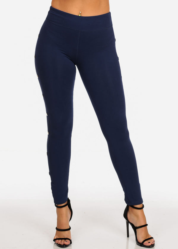 Trendy Pull On Navy Leggings