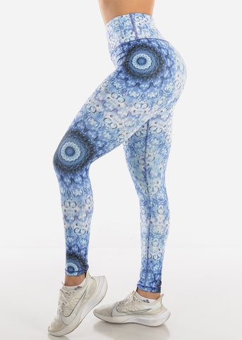 Image of Activewear Navy Printed Leggings