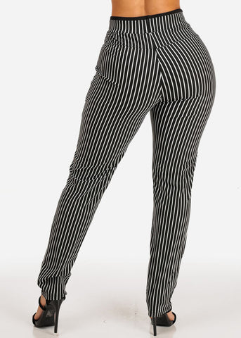 Image of Plus Size High Rise Stripe Pants